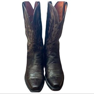 LUCCHESE MENS CHOCOLATE MAD DOG GOAT BOOTS SIZE 9